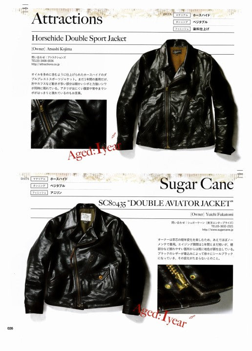 AGING of LEATHER JACKET 別冊Lightning Vol.161 2017年1月 Press Info (2)