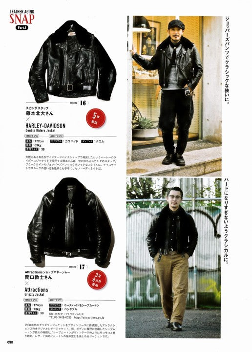 AGING of LEATHER JACKET 別冊Lightning Vol.161 2017年1月 Press Info (7)