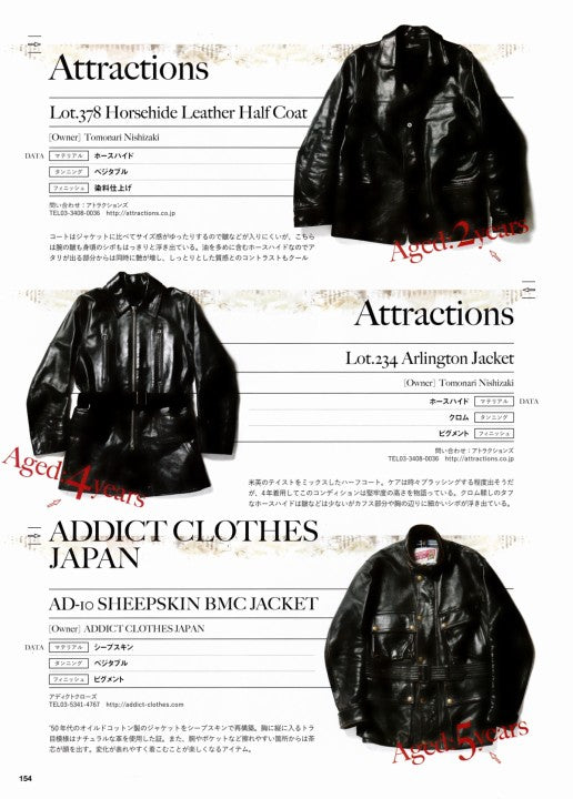 AGING of LEATHER JACKET 別冊Lightning Vol.161 2017年1月 Press Info (13)