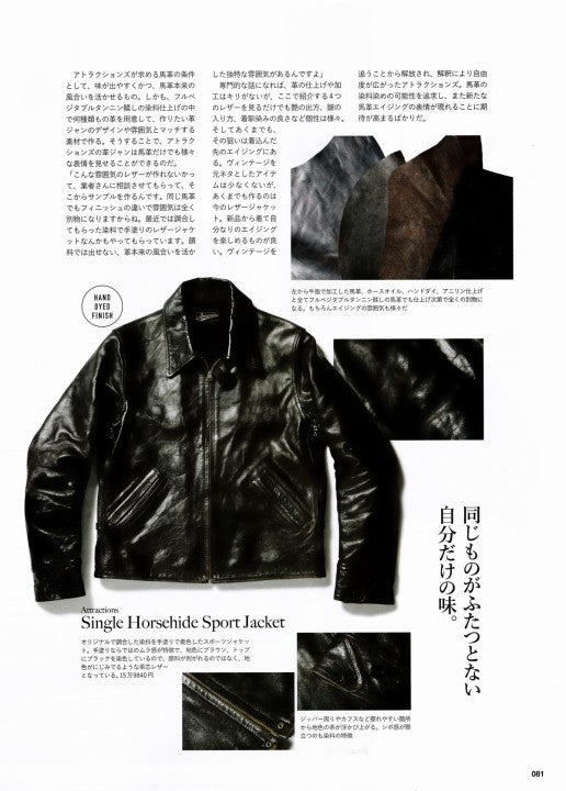 AGING of LEATHER JACKET 別冊Lightning Vol.161 2017年1月 Press Info (6)