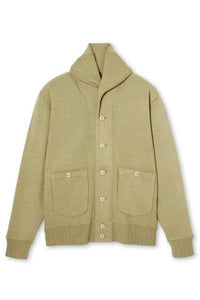 Lot.637 Big Shawl Cardigan Sweatshirt -Khaki-