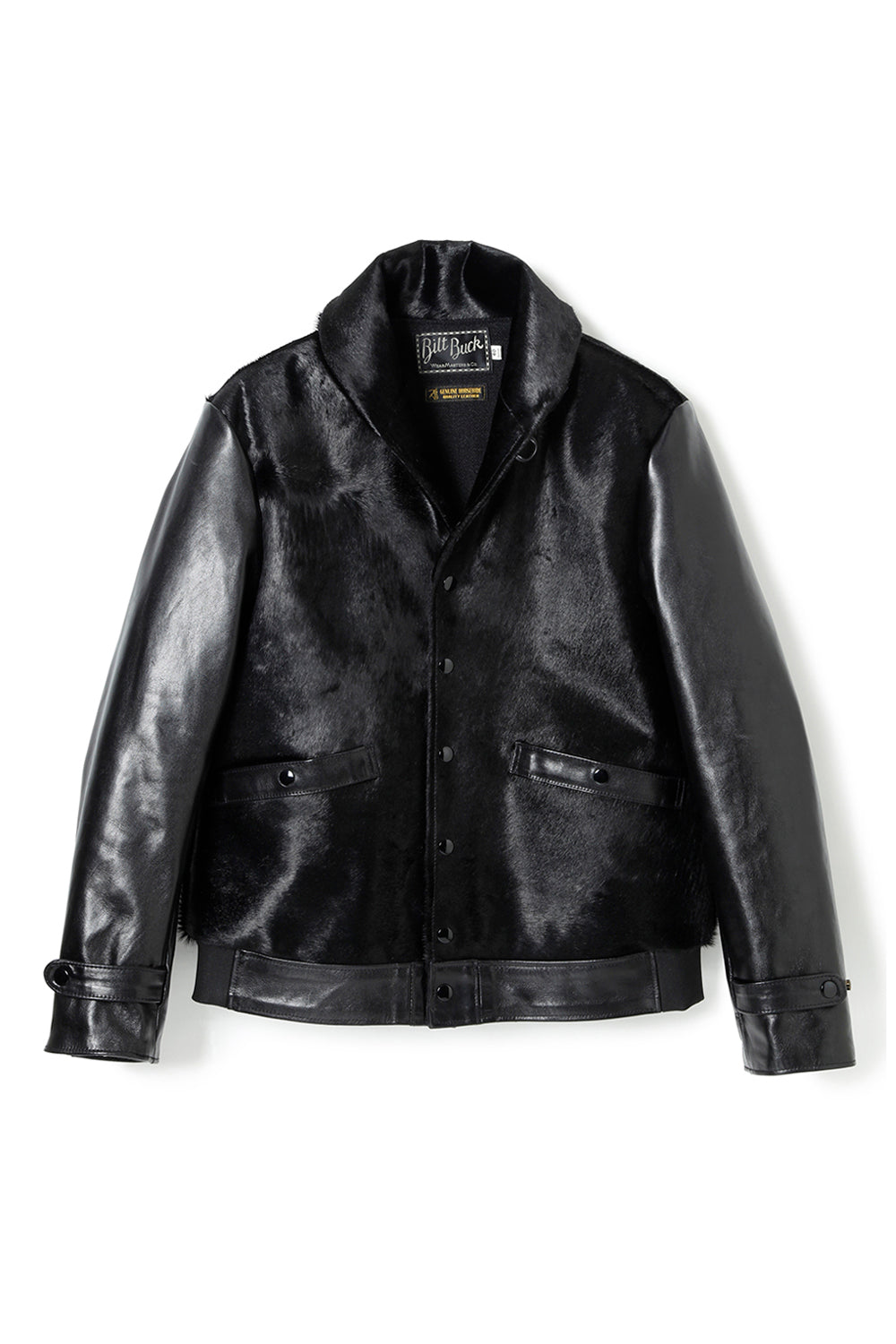 Lot.625 Hair On Horsehide King Shawl Jacket -Black-