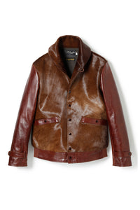 Lot.625 Hair On Horsehide King Shawl Jacket -Brown-