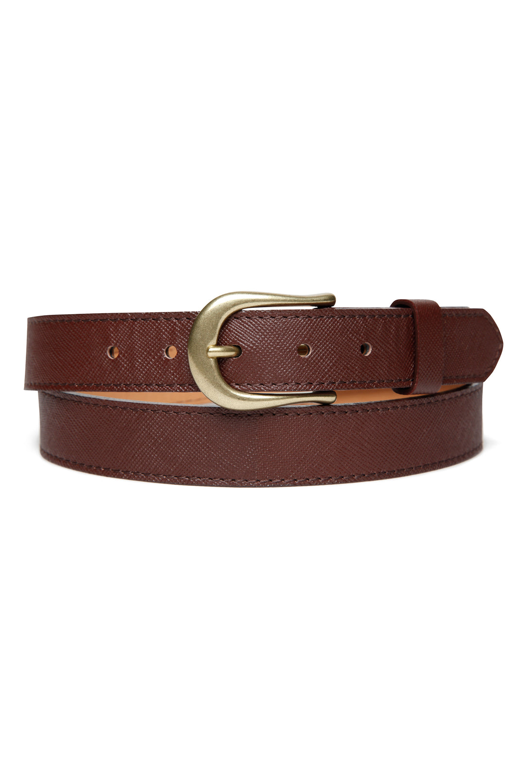 Lot.633 Horsehide Trousers Belt -Brown-