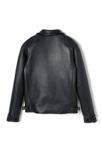 Lot.669 Deerskin Lockbil Jacket -Black-