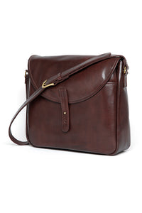 Lot.675 Leather Shoulder Bag / Goatskin -Brown-