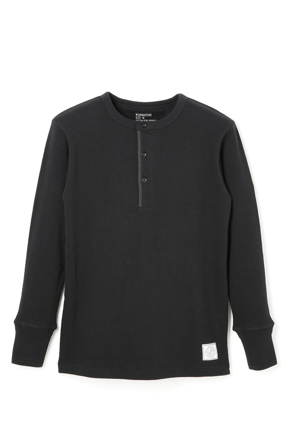 Lot.679 Henley Neck Thermal -Black-