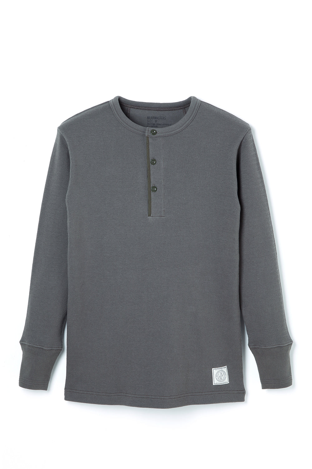 Lot.679 Henley Neck Thermal -Gray-