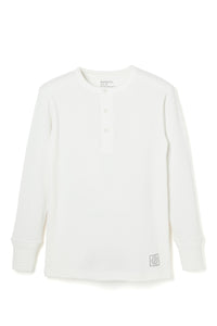 Lot.679 Henley Neck Thermal -White-