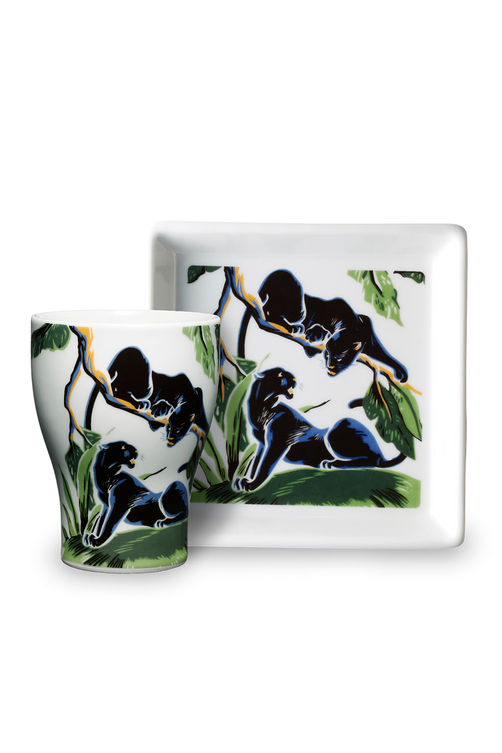 Lot.A20011 Panther Cup & Plate Set