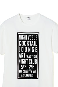 ART046 THE SIGN S/S Tee -White-