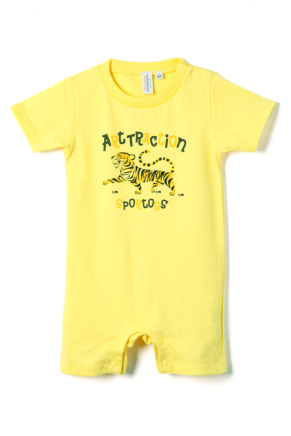 ART072 Tiger Rompers -Yellow-