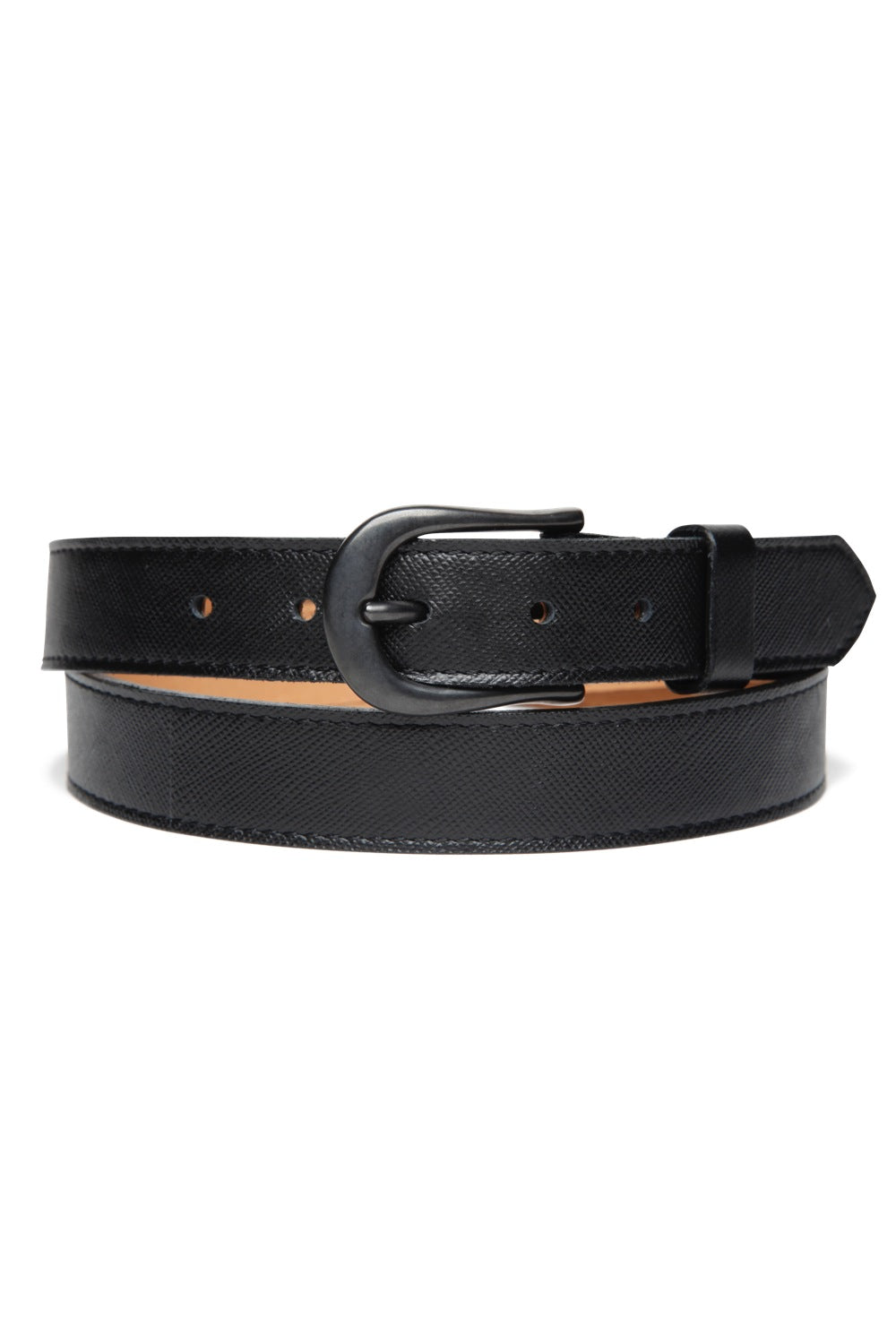 Lot.633 Horsehide Trousers Belt -Black-