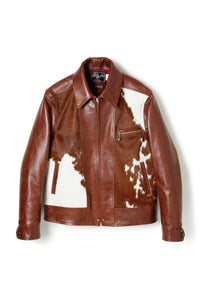 Lot.576 Hair On Cowhide LL Leather Jacket -Brown-