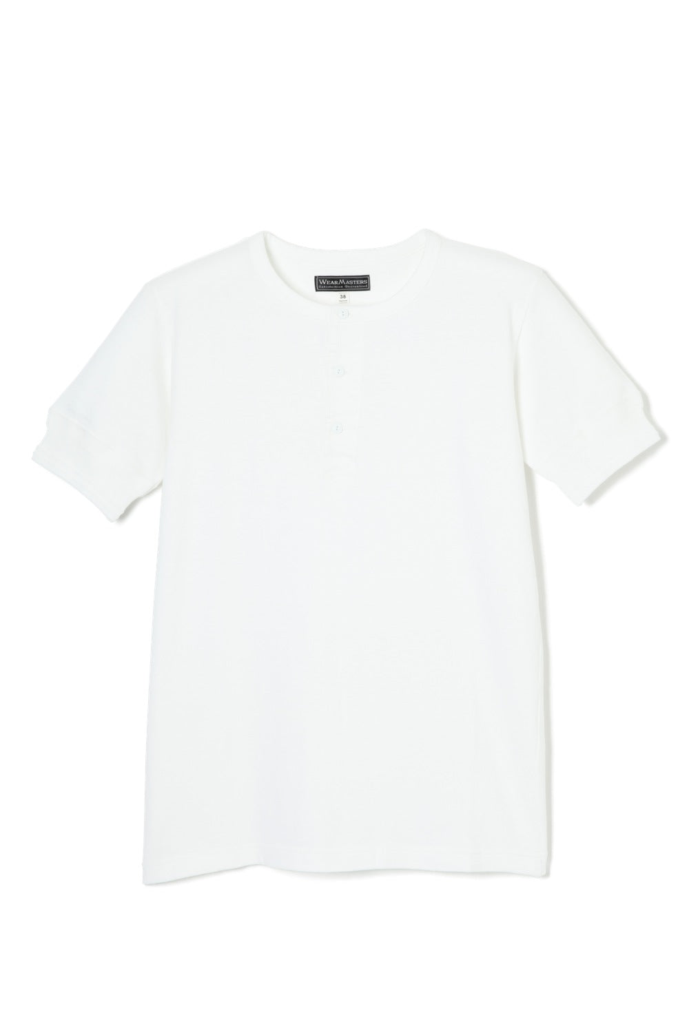 Lot.612 Henley Neck Tee -White-