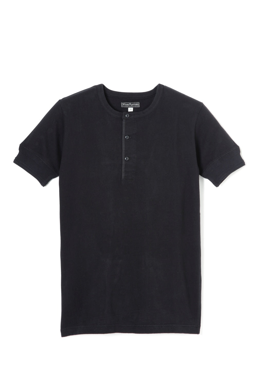 Lot.612 Henley Neck Tee -Black-
