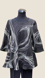 AINO/RALSTON AVY Black and White Tunic