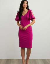 Load image into Gallery viewer, JOSEPH RIBKOFF Cape Sleeves Dress
