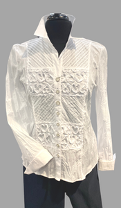 SE - JUST WHITE Crash White Blouse