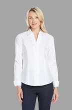 Load image into Gallery viewer, FOXCROFT LAUREN Non-Iron Pinpoint Shirt