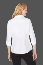 Load image into Gallery viewer, FOXCROFT - TAYLOR Taylor Non-Iron Pinpoint 3/4 Sleeve Shirt