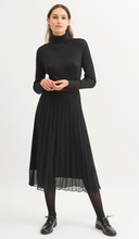 Load image into Gallery viewer, SAINT JAMES ANNA Black Voile Pleated Midi Skirt