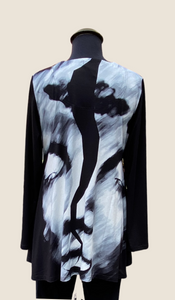 AINO/RALSTON INGRID BLACK AND WHITE Tunic