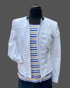 BARBARA LEBEK  White Jacket No Collar 10019