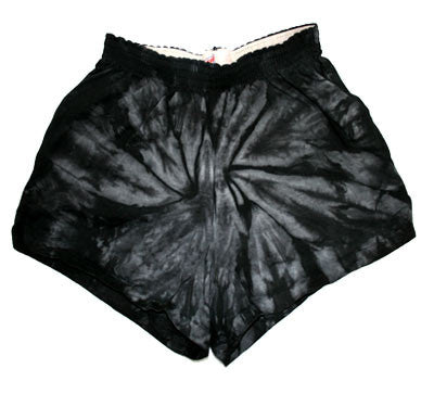 Acid Black Tie Dye Shorts - Feelin Peachy