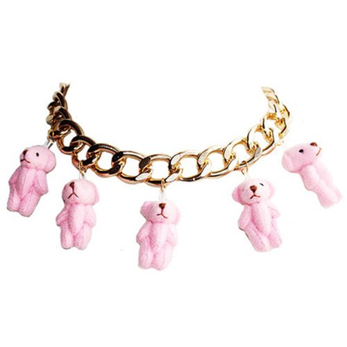 Pink Teddy Bear Statement Necklace