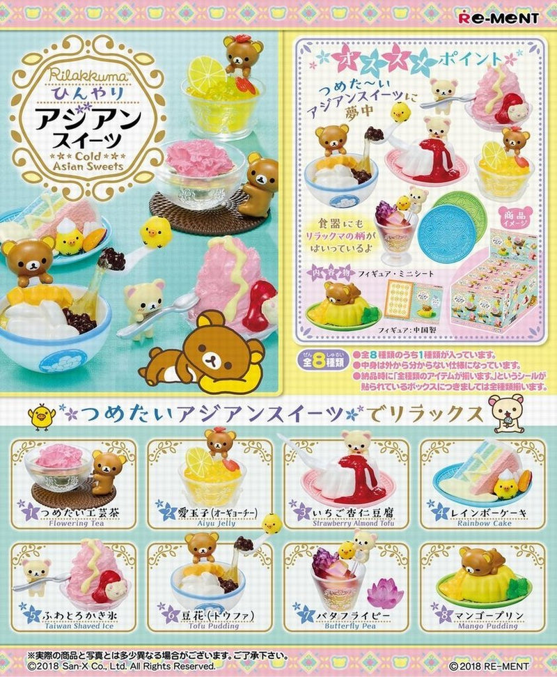 ADD ON SWEET RILAKKUMA RE-MENT FOR DECO CASE- Lyssa's Miniatures - Feelin Peachy