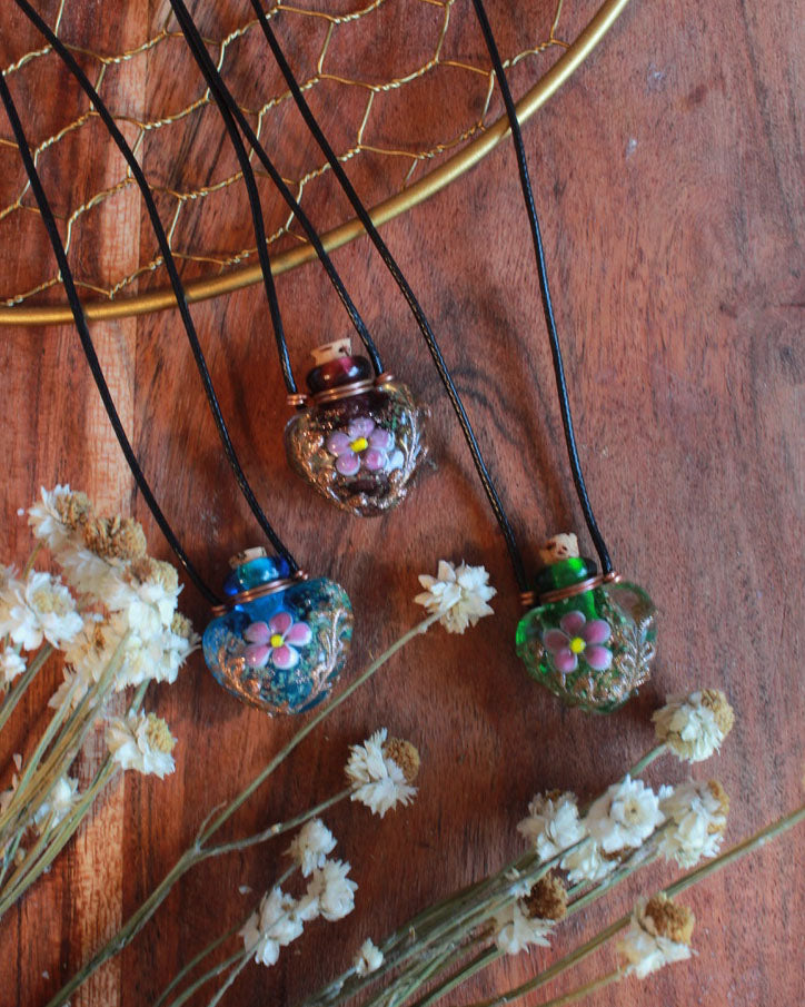 Glass Floral Necklace