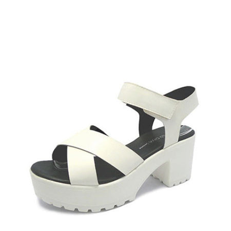 Hologram Vegan Leather flat Sandals