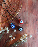 Glass Evil Eye Bottle Necklace