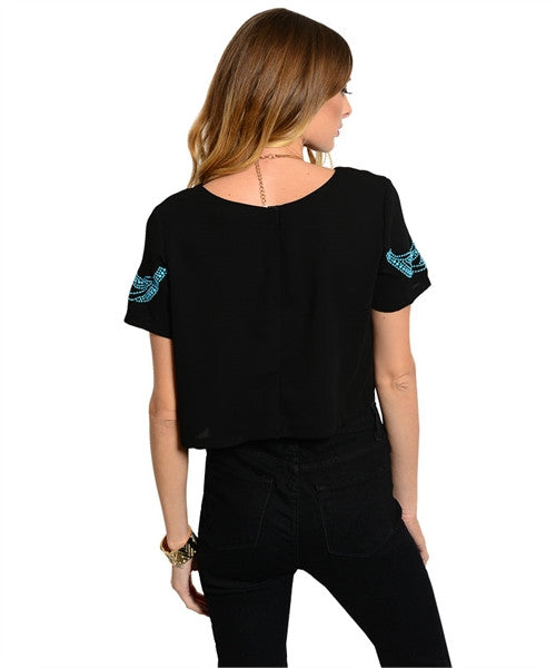 Mirrored Turquoise Stone Relaxed T-Shirt