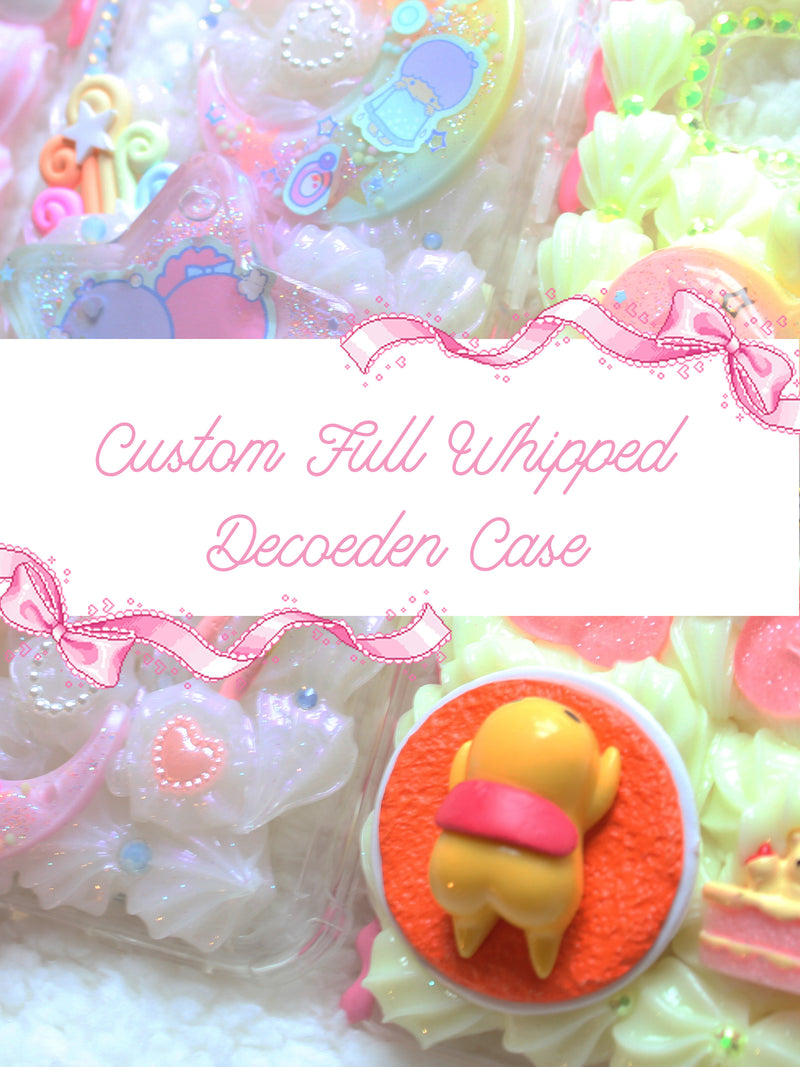 Kawaii Pastel Custom Full Whipped Decoden Cases FOR IPHONES ONLY- Lyssa's Miniatures - Feelin Peachy