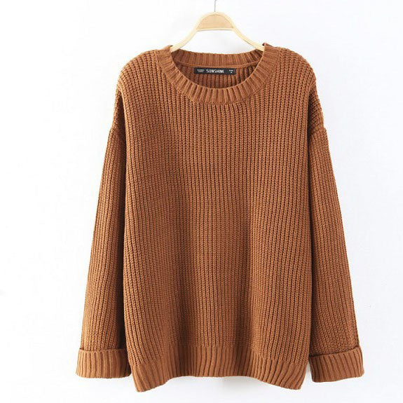 Lora Oversized Knit Sweater - Feelin Peachy