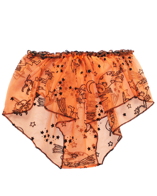 Halloween Ruffled High Waist Pajama Shorts - Feelin Peachy