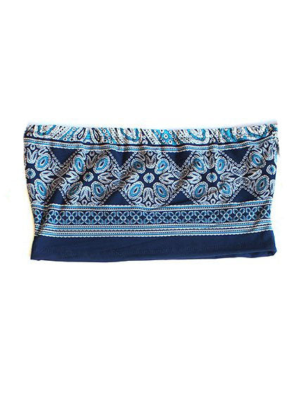 Paisley Tube Top- Blue - Feelin Peachy