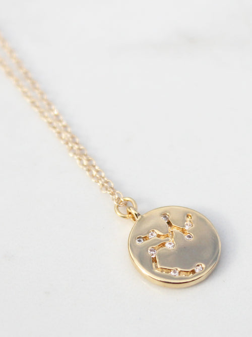Dainty Zodiac Star Sign Pendant- 14K Gold Filled - Feelin Peachy