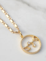 Gold Chain Zodiac Star Sign Pendant- 18K Gold Plated - Feelin Peachy