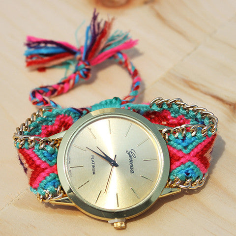 Flora Friendship Bracelet Watch - Feelin Peachy