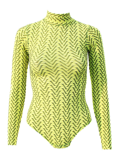 Electric Neon Yellow Bodysuit - Feelin Peachy