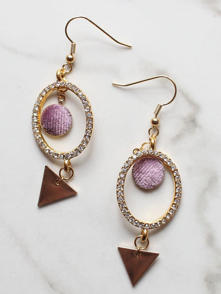 Gold DON'T CARE Dangle Earrings