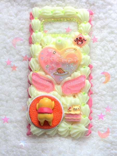 Kawaii Pastel Decoden Gudetama Sleepy Samsung Galaxy NOTE 8 Case - Feelin Peachy