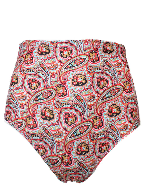 Boho Babe Paisley High Waist Shorts