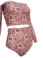 Boho babe Paisley Off Shoulder Tube Top - Feelin Peachy