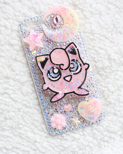 Kawaii Pastel Shaker JigglyPuff RhineStone Case IPhone 7+ - Feelin Peachy