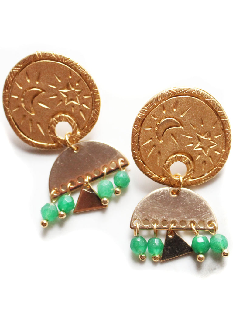 Jade Vintage Drop Earrings