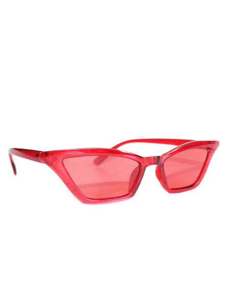 Big Red Retro Cat Eye Sunglasses - Feelin Peachy